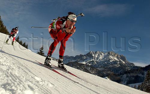 09.12.2011, Hochfilzen, Austria. The IBU Biathlon men's 10km Sprint Berger Lars NOR Biathlon World Cup