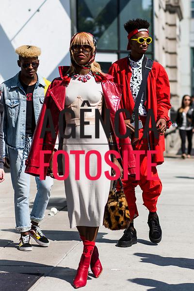 Street Style - Moda de Rua<br /> <br /> New York - Verao 2018<br /> <br /> foto: FOTOSITE