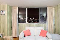 C-711, Jesús Ver Ver y Vargas Macías. The interior livingroom windows of apartments in the Chihuahua building of Tlatelolco. Mario Pani´s Tlatelolco, plaza de las 3 culturas, Mexico DF