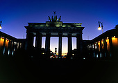 Berlin, Germany. Brandenberg Gate at night.