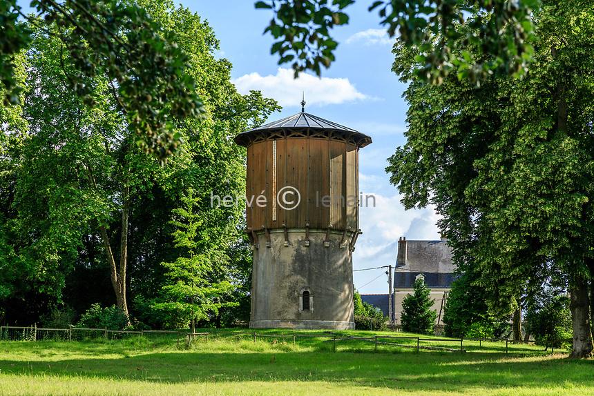 France, Sarthe (72), Le Lude, château et jardins du Lude, le château d'eau