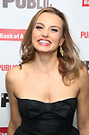 """Olivia Gilliatt attends the Opening Night Celebration for """"Mother of the Maid"""" on October 18, 2018 at the Public Theatre in New York City."""