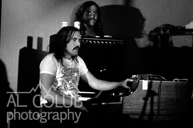 Commander Cody & his Lost Planet Airmen, Modesto,Ca, March 8th, 1974 At The California Ballroom Rockn' Chair Productions..Photo by Al Golub/Golub Photography