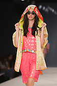 Collection by Hena Iqbal from Northumbria University Newcastle. Graduate Fashion Week 2014, Runway Show at the Old Truman Brewery in London, United Kingdom. Photo credit: Bettina Strenske