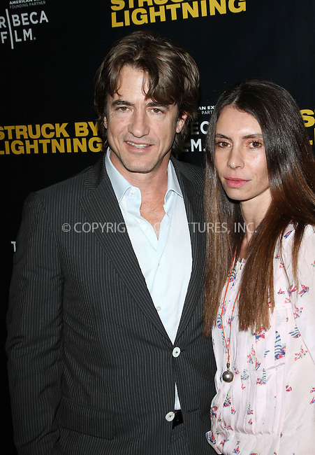 WWW.ACEPIXS.COM....US Sales Only....January 23 2013, New York City....Dermot Mulroney and Tharita Catulle at the premiere of 'Struck By Lightning' at the Chinese 6 Theater in Hollywood, Los Angeles....By Line: Famous/ACE Pictures......ACE Pictures, Inc...tel: 646 769 0430..Email: info@acepixs.com..www.acepixs.com