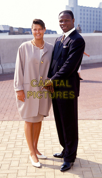 CHRIS EUBANK & WIFE KARREN.Ref: 007.full length, full-length.www.capitalpictures.com.sales@capitalpictures.com.© Capital Pictures