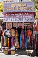 Traditional clothing on sale at Sapna Saree Emporium  in City Palace Road, Udaipur, Rajasthan, Western India
