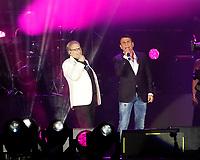 Nino D'Angelo festeggia i suoi 60 anni con un concerto nello stadio San Paolo di Napoli<br /> nella foto con Sal Da Vinci