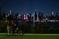 NEW YORK, NEW YORK - JULY 13: The Empire State building and middle Manhattan are seen without power  during a major power outage on July 13, 2019 in New York City. New Yorkers are without power as a major outage left portions of Manhattan, including Times Square and the Upper West Side with disrupting subway service across the city. (Photo by VIEWPRESS)