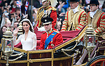 Royal Wedding.Bride and Groom.Wills Kate....Pic by Gavin Rodgers / Pixel.07917221968