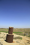 Israel, Negev, a British trig point in Beeri