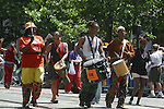 GAY PERCUSSION GROUP MARCH IN GAY PRIDE PARADE
