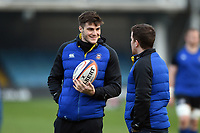 Josh Bayliss of Bath Rugby looks on during the pre-match warm-up. Premiership Rugby Shield match, between Bath United and Gloucester United on April 8, 2019 at the Recreation Ground in Bath, England. Photo by: Patrick Khachfe / Onside Images