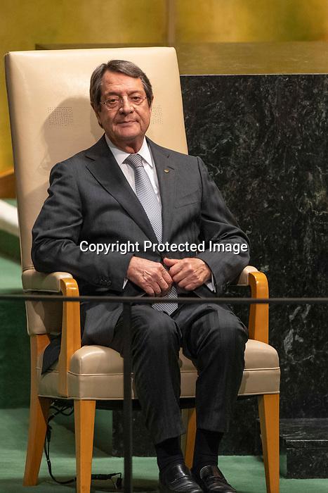 LOS general debate – 27 September<br /> <br /> AM<br /> <br /> His Excellency Nicos Anastasiades, President, Republic of Cyprus