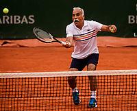 MONSOUR BAHRAMI, FABRICE SANTORO<br /> <br /> TENNIS - FRENCH OPEN - ROLAND GARROS - ATP - WTA - ITF - GRAND SLAM - CHAMPIONSHIPS - PARIS - FRANCE - 2018  <br /> <br /> <br /> <br /> &copy; TENNIS PHOTO NETWORK