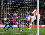 Arsenal's Olivier Giroud puts a good chance wide<br /> <br /> Champions League - Arsenal  vs AS Monaco  - Emirates Stadium - England - 25th February 2015 - Picture David Klein/Sportimage