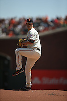 SAN FRANCISCO, CA - JULY 31:  Matt Cain #18 of the San Francisco Giants pitches against the Washington Nationals during the game at AT&T Park on Sunday, July 31, 2016 in San Francisco, California. Photo by Brad Mangin