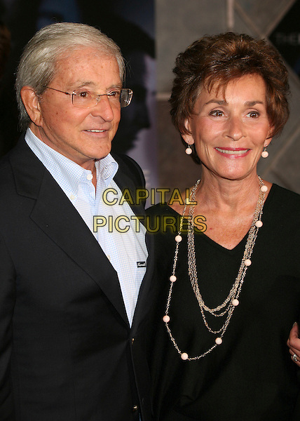 "JERRY SHEINDLIN & JUDY SHEINDLIN.World Premiere of ""The Prestige"" at the El Capitan Theatre, Hollywood, California, USA..October 17th, 2006.Ref: ADM/BP.headshot portrait black necklace.www.capitalpictures.com.sales@capitalpictures.com.©Byron Purvis/AdMedia/Capital Pictures."