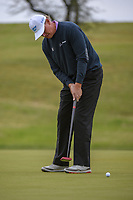 Ernie Els (RSA) watches his putt on 10 during Round 2 of the Valero Texas Open, AT&amp;T Oaks Course, TPC San Antonio, San Antonio, Texas, USA. 4/20/2018.<br /> Picture: Golffile   Ken Murray<br /> <br /> <br /> All photo usage must carry mandatory copyright credit (&copy; Golffile   Ken Murray)