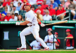 10 March 2010: St. Louis Cardinals' outfielder Tyler Henley in action during a Spring Training game against the Washington Nationals at Roger Dean Stadium in Jupiter, Florida. The Cardinals defeated the Nationals 6-4 in Grapefruit League action. Mandatory Credit: Ed Wolfstein Photo