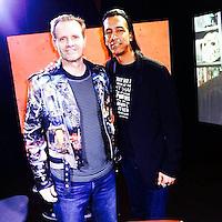 Michael Biehn, Aaron Kai<br /> at Blanc-Biehn Productions on Dread Central Live, The Stream.tv Studios, Los Angeles, CA 03-03-14<br /> David Edwards/DailyCeleb.com 818-249-4998
