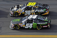 Kyle Busch (#54) and James Buescher (#30)