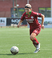 20180804 - ZULTE , BELGIUM : Zulte Waregem's Lisa Capiau pictured during a friendly soccer match between the women teams of Zulte Waregem and Bosdam Beveren  , during the preparation of the 2018-2019 season, Saturday 4 August 2018 . PHOTO DIRK VUYLSTEKE / SPORTPIX.BE