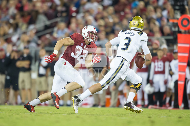 Stanford, CA - October 15, 2015: Stanford football vs UCLA at Stanford Stadium Thursday night.