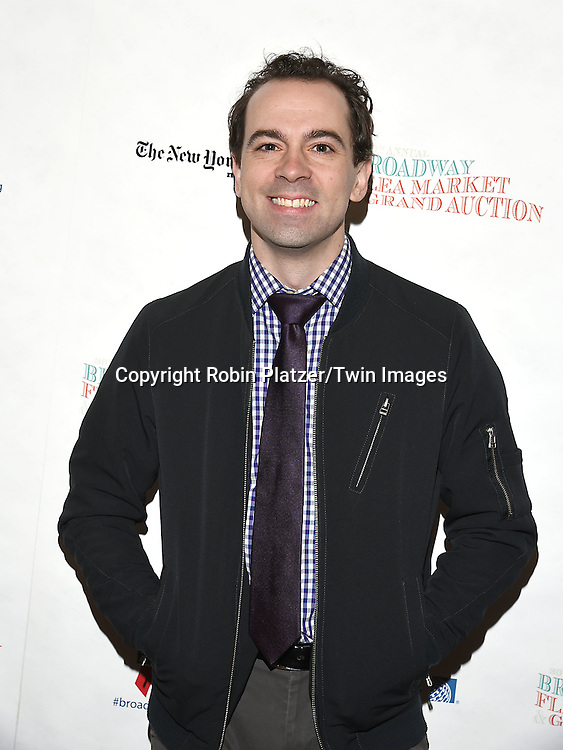 Rob McClure attends the Broadway Cares/Equity Fights Aids Flea Market and Grand Auction on September 25, 2016 at the Music Box Theatre and in Shubert Ally in New York, New York, USA. <br /> <br /> photo by Robin Platzer/Twin Images<br />  <br /> phone number 212-935-0770