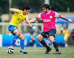 Yau Yee League Select vs BC Rangers during their Main Shield Final match as part of day three of the HKFC Citibank Soccer Sevens 2015 on May 31, 2015 at the Hong Kong Football Club in Hong Kong, China. Photo by Xaume Olleros / Power Sport Images