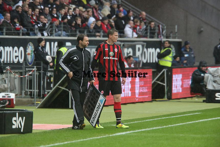 Alexander Madlung (FRankfurt) kommt rein - Eintracht Frankfurt vs. Eintracht Braunschweig, Commerzbank Arena