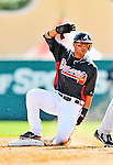 8 March 2011: Atlanta Braves infielder Martin Prado in action during a Spring Training game against the New York Yankees at Champion Park in Orlando, Florida. The Yankees edged out the Braves 5-4 in Grapefruit League action. Mandatory Credit: Ed Wolfstein Photo