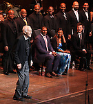 Dick Latessa & Company during the Curtain Call for the Manhattan Concert Production of 'Ragtime - In Concert' at Avery Fisher Hall in New York City on 2/18/2013