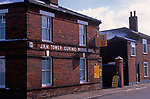 A752JB Red brick nineteenth century terraced housing Great Yarmouth Norfolk England