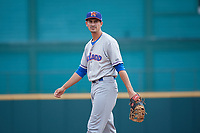 Midland RockHounds Luke Persico (8) during a Texas League game against the Frisco RoughRiders on May 22, 2019 at Dr Pepper Ballpark in Frisco, Texas.  (Mike Augustin/Four Seam Images)