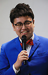 """April 17, 2018, Tokyo, Japan - Japanese comedy duo Ginshari member Nao Hashimoto attends the opening ceremony of the exhibition """"Detective Conan Science Investigation"""" at the National Museum of Energing Science and Innovation in Tokyo on Tuesday, April 17, 2018. The exhibition will start on April 18 through July 8.    (Photo by Yoshio Tsunoda/AFLO) LWX -ytd-"""