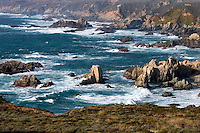 PACIFIC OCEAN WAVES crash on the rocky coastline at GARRAPATA STATE BEACH near Carmel - BIG SUR, CALIFORNIA