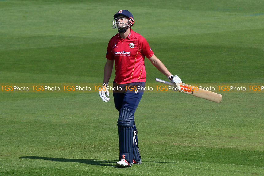 Nick Browne of Essex leaves the field having been dismissed for 0 during Glamorgan vs Essex Eagles, Royal London One-Day Cup Cricket at the SSE SWALEC Stadium on 7th May 2017