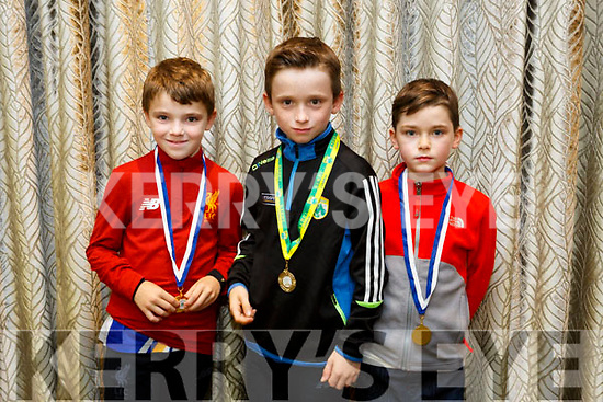 At the  Tralee Parnells Awards night in the Rose Hotel on Friday were Sean Sargent David Sargent, Jadan Sugrue