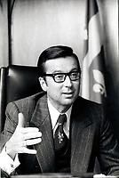 File photo between 1970 and 1976- Quebec Premier Robert Bourassa in his Montreal office