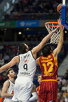 Real Madrid´s Felipe Reyes and Galatasaray´s Gonlum during 2014-15 Euroleague Basketball match between Real Madrid and Galatasaray at Palacio de los Deportes stadium in Madrid, Spain. January 08, 2015. (ALTERPHOTOS/Luis Fernandez) /NortePhoto /NortePhoto.com
