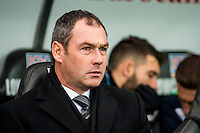 Manager of Swansea City Paul Clement looks on ahead of the English Premier League game between Arsenal and Swansea at the Liberty Stadium in Swansea ,Wales, UK. Saturday 14 January 2017