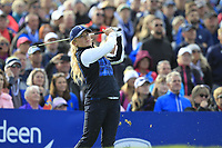 Bronte Law of Team Europe on the 10th tee during Day 1 Fourball at the Solheim Cup 2019, Gleneagles Golf CLub, Auchterarder, Perthshire, Scotland. 13/09/2019.<br /> Picture Thos Caffrey / Golffile.ie<br /> <br /> All photo usage must carry mandatory copyright credit (© Golffile | Thos Caffrey)