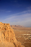 Israel, Judean desert, cliff at the eastern side of Masada
