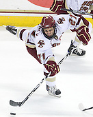 Steven Whitney (BC - 21) - The Boston College Eagles defeated the University of Massachusetts-Amherst Minutemen 2-1 (OT) on Friday, February 26, 2010, at Conte Forum in Chestnut Hill, Massachusetts.