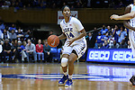 01 March 2015: Duke's Ka'lia Johnson. The Duke University Blue Devils hosted the University of North Carolina Tar Heels at Cameron Indoor Stadium in Durham, North Carolina in a 2014-15 NCAA Division I Women's Basketball game. Duke won the game 81-80.