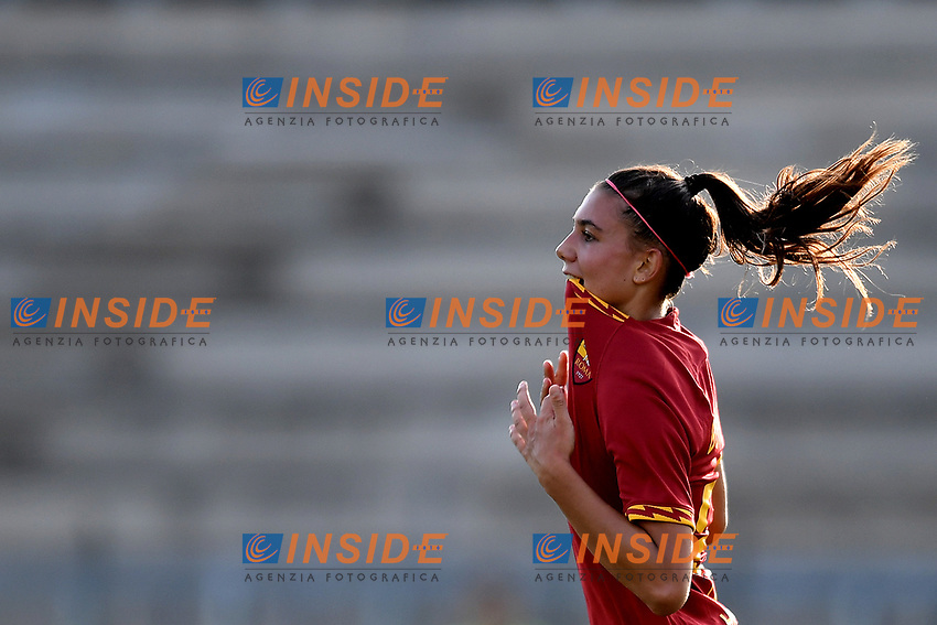 Agnese Bonfantini of AS Roma celebrates after scoring the goal of 2-2  <br /> Roma 8/9/2019 Stadio Tre Fontane <br /> Luisa Petrucci Trophy 2019<br /> AS Roma - Paris Saint Germain<br /> Photo Andrea Staccioli / Insidefoto