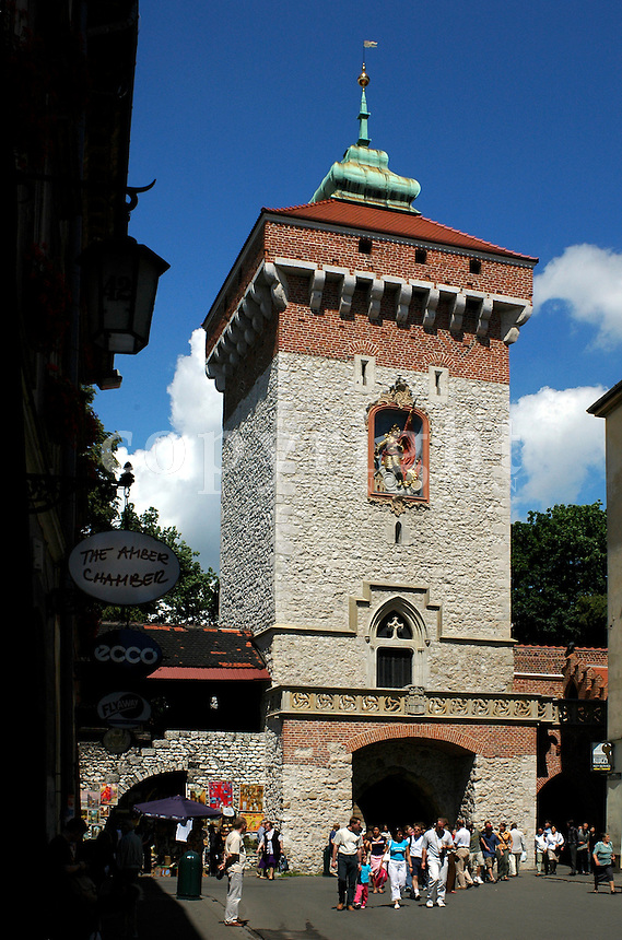 St. Florian Gate (Brama Florianska) in the old town of Cracow