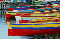 Local made fishing boats<br /> Pointe Seraphine,  Castries Harbor<br /> St. Lucia,  Windward Islands<br /> Lesser Antilles