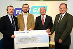 FloGas presentation: from Left: Eoin O'Flynn of Flogas, Graham O'Rourke, Richard Martin of FloGas and Sean McEntee. www.newsfile.ie www.newsfile.ie